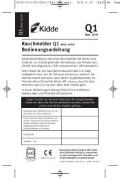 Rauchmelder Q1 (Mod. 10Y29 ... - Betting und Buss Gbr