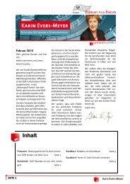 Bericht aus Berlin Februar 2010 - Karin Evers-Meyer