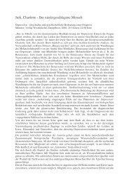Jurk, Charlotte - Der niedergeschlagene Mensch - Kulturserver NRW
