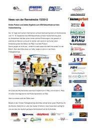 News von der Rennstrecke 15/2012