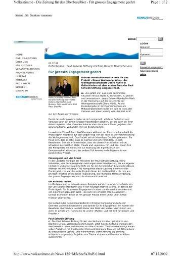Page 1 of 2 Volksstimme - Die Zeitung für das Oberbaselbiet - Für ...
