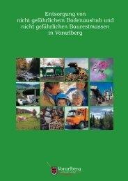 Broschüre Bodenaushub Baurestmassen - Vorarlberg