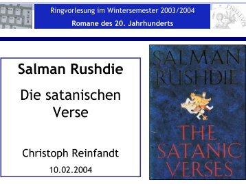 Salman Rushdie Die satanischen Verse - Literaturwissenschaft-online