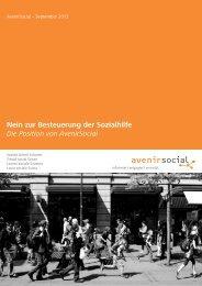 Nein zur Besteuerung der Sozialhilfe - AvenirSocial