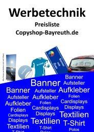 preisliste werbetechnik - Copyshop-Bayreuth