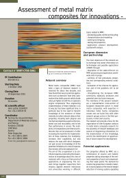Industrial and Materials Technologies (Brite-Euram III) - the world of ...