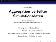 Aggregation verteilter Simulationsdaten - Sebastian Lieske