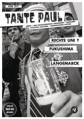 Fukushima Langemarck Rechte Uni ? - TantePaul - für Alle