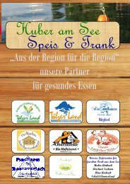 Speisekarte (PDF, 1637 MByte) - Landhotel Huber am See