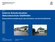 Externe Schulevaluation Sekundarschule Glattfelden 2012 [PDF ...