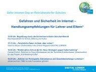 Vortrag DIGITAL LERNEN Safer Internet Day Reinickendorf