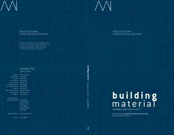 Building Material 18 - Architectural Association of Ireland