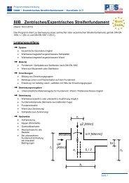 80B Zentrisches/Exzentrisches Streifenfundament