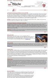 Wochenblatt // Weekly News 30.04.2009 Jahreshauptversammlung ...