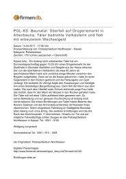 POL-KS: Baunatal: Überfall auf Drogeriemarkt in ... - Firmendb