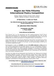 Beginn der Féile Filíochta International Poetry Competition