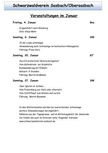 Schwarzwaldverein Sasbach/Obersasbach