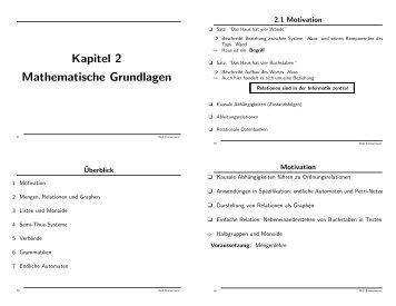 Kapitel 2 Mathematische Grundlagen