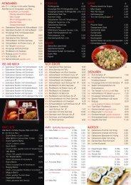 MittagsMenüs Vorspeisen Beilagen suppen salate reis ... - Wok Haus