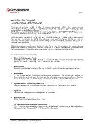 Vereinfachter Prospekt Schoellerbank Ethik Vorsorge