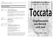siehe Programmblatt - Kirchenmusik an der Dreifaltigkeitskirche ...