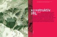 KONstruktiv 285, März 2012 - Kammer der Architekten und ...