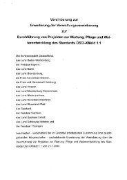 Vereinbarung zur Erweiterung der Verwaltungsvereinbarung ... - OSCI
