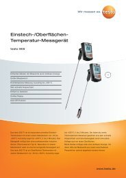 Einstech-/Oberflächen- Temperatur-Messgerät - Testo AG