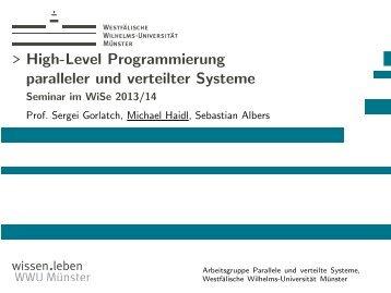 High-Level Programmierung paralleler und verteilter Systeme ...