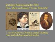 """Vom """"Sturm und Drang"""" zur Romantik 7 - Heinrich Detering"""