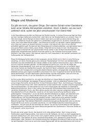 17.11.2012 Die Welt: Magie und Moderne - Denk mal an Berlin