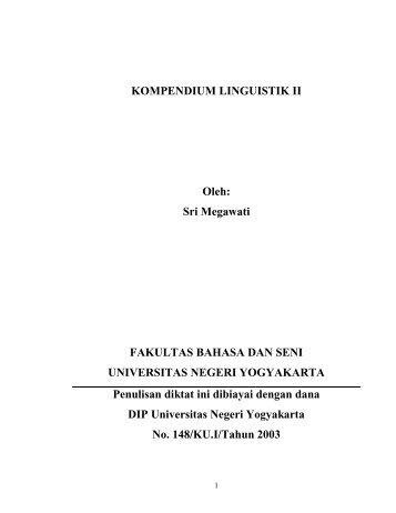 Lektion 13: Morphologie - Staff UNY - Universitas Negeri Yogyakarta