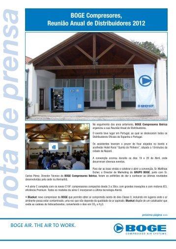 d2170f6a43 BOGE Compresores, Reunião Anual de Distribuidores 2012