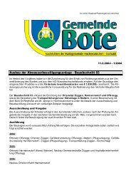 Ausbau der Abwasserbeseitigungsanlage - Bauabschnitt 03