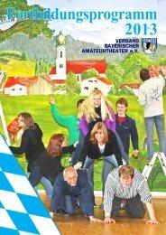 Fortbildungsprogramm 2013 - erholung 27 fuerth ev