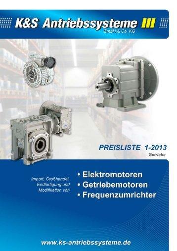 Preisliste Getriebe 2013.pub