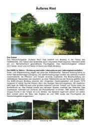 Bebildertes Schutzgebietsporträt des NABU Baden-Württemberg