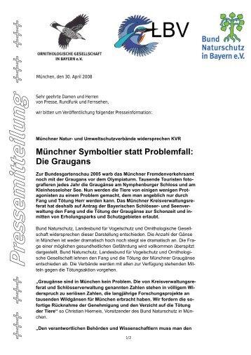 Münchner Symboltier statt Problemfall: Die ... - Bund Naturschutz