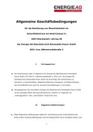 AGB´s Vermietung - Energie AG Oberösterreich