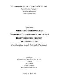 Die Abhandlung über die Gottesliebe (Theotimus) - Franz Sales ...