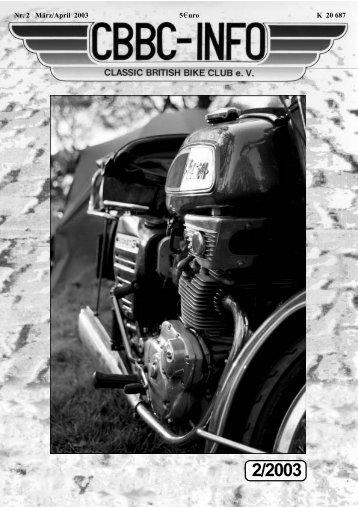 Info 2-03 - CBBC - Classic British Bike Club