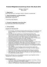 Protokoll Mitgliederversammlung 2012 - Villa Stucki