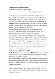 Gedanken zur Traueransprache für Peter Bender - Friedrich ...