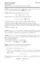 ¨Ubungen zur Analysis I WS 06/07 Prof. Dr. C. Deninger Dr. G. Quick ...