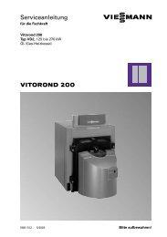 VITOROND 200 Serviceanleitung