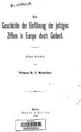 Zur Geschichte der Einfuhrung der jetzigen Ziffern in Europa durch ...