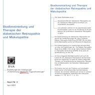Stadieneinteilung und Therapie der diabetischen Retinopathie und ...