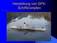 Herstellung von GFK-Schiffsrümpfen