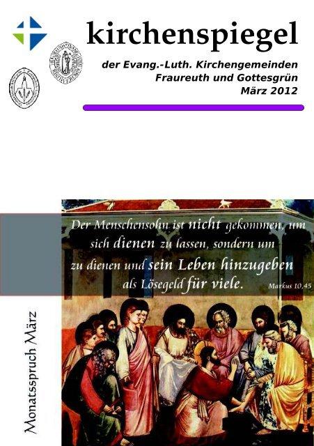 Kirchenspiegel März 2012 - Evang.-Luth. Kirchengemeinde Fraureuth