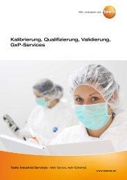 Kalibrierung, Qualifizierung, Validierung, GxP-Services